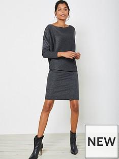 mint-velvet-metallic-batwing-off-the-shoulder-dress-charcoal