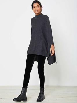 mint-velvet-knitted-poncho-charcoal