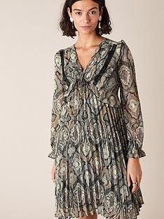 monsoon-geometric-print-pleated-dress