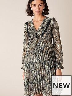 monsoon-geometric-print-pleated-dress