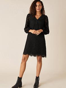 monsoon-lace-knee-length-dress-black