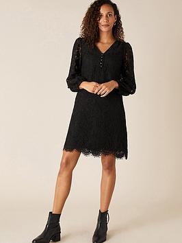 monsoon-lace-knee-length-dress-black