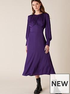 monsoon-purple-satin-midi-dress