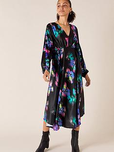 monsoon-blur-print-satin-midi-dress-black