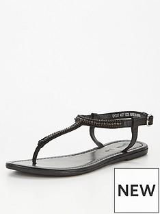 v-by-very-candy-embellished-leather-toe-post-sandal-black
