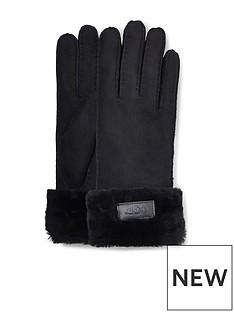 ugg-turn-cuff-gloves-black