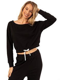 dorina-tie-waist-pyjama-top-blacknbsp