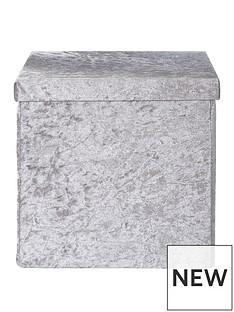 crushed-velvet-foldable-square-storage-box