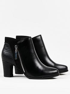 wallis-asymmetric-zip-panel-mix-material-boot-black