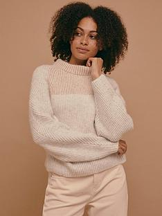 topshop-dolman-sleeve-colour-block-jumper-multinbsp