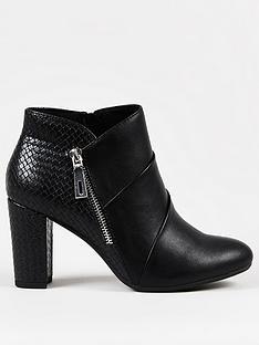 wallis-pleated-front-side-zip-block-heel-black