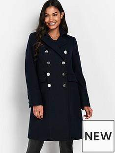 wallis-longline-faux-wool-revere-coat-navy