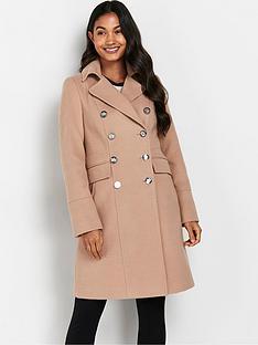 wallis-longline-faux-wool-revere-coat-stone