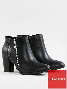 wallis-side-zip-mixed-material-smart-boots--nbspblack
