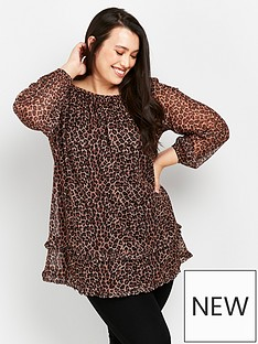 evans-animal-tiered-tunic-top