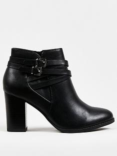 wallis-multi-strap-block-heel-ankle-boot-black