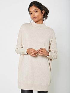 mint-velvet-funnel-neck-long-jumper-beige