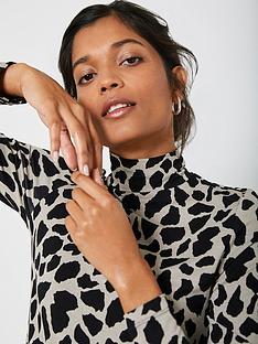 mint-velvet-giraffe-print-polo-neck-top-neutral