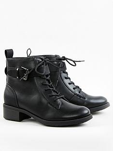 evans-buckle-biker-boots-black