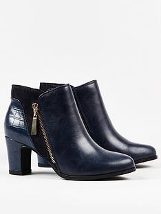 wallis-asymmetric-zip-panel-mix-material-boot-navy