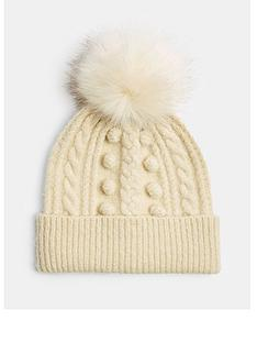 topshop-bobble-beanie-cream