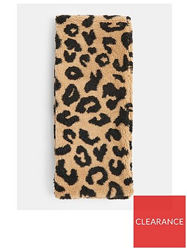 topshop-faux-shearling-scarf-leopard