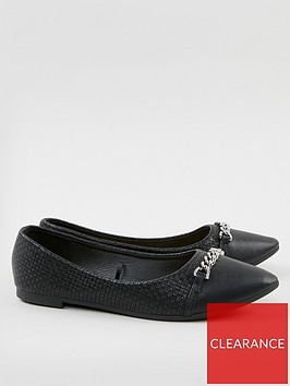 wallis-chain-detail-flat-point-pump-black