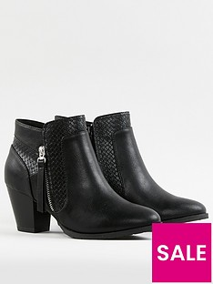wallis-mix-material-side-zip-block-boot-black