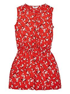v-by-very-girls-woven-floral-playsuit-red