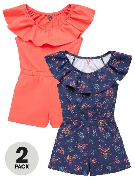 v-by-very-girls-2-pack-jersey-floral-playsuits-multi