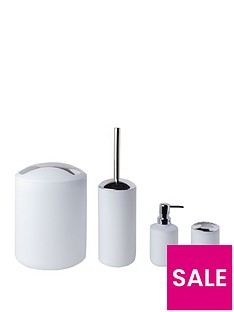 sabichi-white-matte-bathroom-4pc-accessory-sets