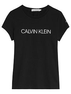 calvin-klein-jeans-girls-institutional-slim-t-shirt-black