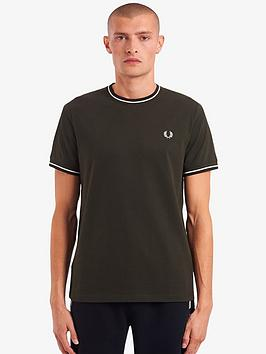 fred-perry-twin-tipped-t-shirt-dark-green