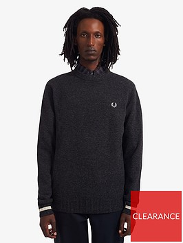 fred-perry-lambswool-jumper-steel
