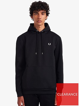 fred-perry-laurel-wreath-hoodie-black