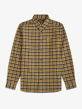 fred-perry-winter-gingham-shirt-amber