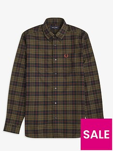 fred-perry-brushed-tartan-oxford-shirt