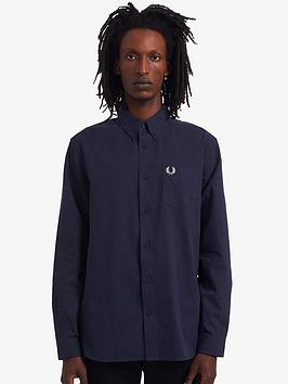 fred-perry-cord-shirt-navy