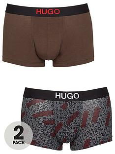 hugo-bodywear-2-pack-mixed-print-logo-trunks