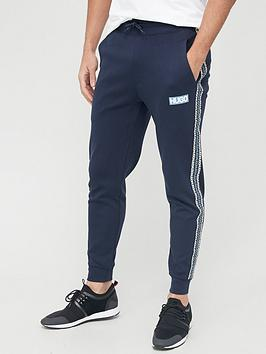 hugo-donburi-tape-logo-joggers-navy