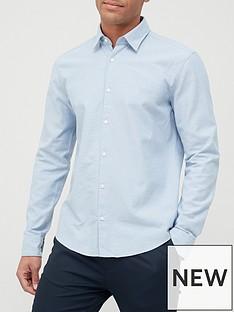 hugo-ermo-oxford-shirt-open-blue