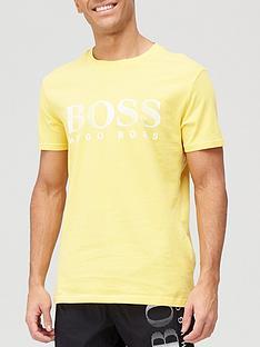 boss-classic-logo-swim-uv-t-shirt-yellow