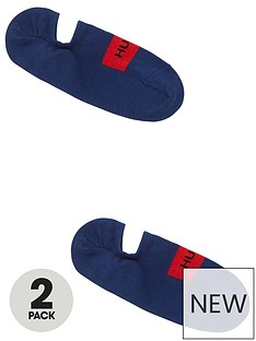 hugo-bodywear-2-pack-no-show-socks-navy