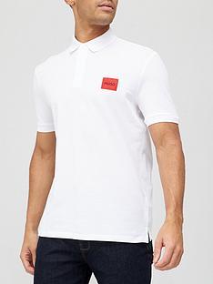 hugo-dereso-212-red-patch-logo-polo-shirt-white