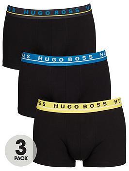 boss-bodywear-3-pack-mixed-waistband-trunks-black