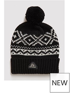 superdry-fairisle-knitted-beanie-blacknbsp