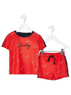 river-island-mini-boys-2-piece-cheeky-shorts-and-short-sleeve-t-shirt-lounge-setnbsp--red