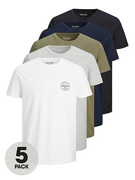 jack-jones-5nbsppack-small-logo-t-shirt-multi