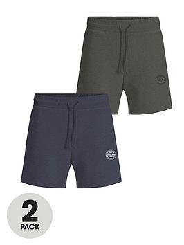 jack-jones-2-pack-logo-jersey-shorts-navykhaki