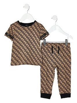 river-island-mini-boys-all-over-print-t-shirt-and-jognbsppants--nbspbeige